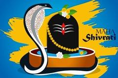Shiving Lingam Snake Illustration Product Image 1