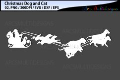 Christmas dog svg / Christmas cat svg / sleigh ride svg Product Image 2