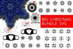 Big Christmas Bundle SVG. Snowflake, Santa, Christmas mask Product Image 1
