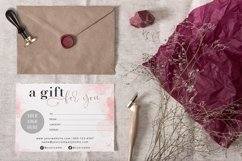 Pink Gift Certificate Template, Editable Gift Certificate Product Image 3
