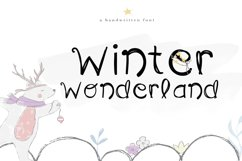 Winter Wonderland - A Fun Handwritten Font Product Image 1