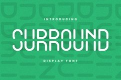 Web Font SURROUND Font Product Image 1