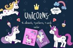 Unicorns vector set and alphabet bonus Product Image 1