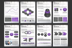 Violet Cube PPT Template Vertical Product Image 5