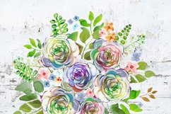 Watercolor Bouquet clipart Product Image 4