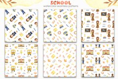 SCHOOL. Watercolor collection. Clipart, cards, patterns Product Image 7