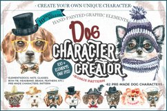 Dog watercolor.Animal Clip art Dog watercolor breeds clipart Product Image 1