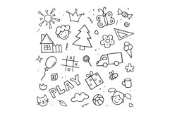 Child drawings. Hand Drawn Kids Doodle Product Image 2