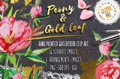 Peony and Gold leaf Product Image 1