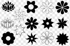 Flower SVG Bundle - Flower Clip Art - Flower Silhouettes Product Image 2