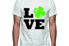 Love St Patricks Day Tee Shirt Design Product Image 1