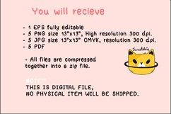 Cute cat Valentine Clip art set, Sweet kitten Valentine Product Image 2