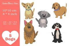 Dogs - Mini Bundle - Embroidery Files Product Image 1