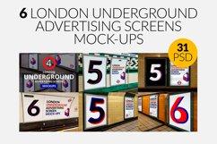 6 London Underground Ad Screen Mock-Ups Bundle / 31 PSD Product Image 1