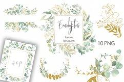 Watercolor Eucalyptus Wreath Clipart. Product Image 1