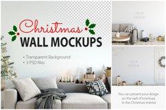 Christmas Wall Mockups Product Image 1