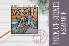 Worship You PNG File / Sublimation Clipart File Product Image 2