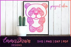 PRIMROSE THE PANDA SVG MANDALA / ZENTANGLE 3 DESIGNS Product Image 12