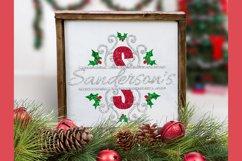 Christmas Holly Monogram & Split Alphabet Duo Product Image 4