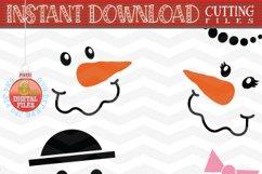 Snowman Faces SVG - Snowman Svg - Christmas bundle SVG Product Image 3