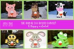 Animal Easter egg holder bundle SVG / DXF / EPS files. Product Image 1