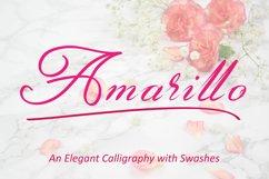 Amarillo | Elegant Calligraphy Product Image 1