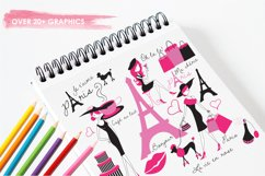 Paris Je T'Aime graphics and illustrations Product Image 3