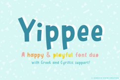 Yippee | A Playful Font Duo - Greek & Cyrillic Product Image 1