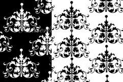 Damask Digital Paper, Black and White Damask Digital Product Image 4