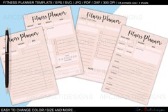 fitness planner template bundle Product Image 1