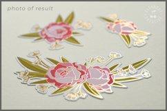 Foil Quill Flowers | Print & Foil single line sketch design Product Image 2