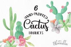 Watercolor Cactus Clipart Bouquets Arrangements Flowers Product Image 1