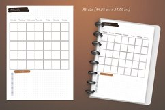 Undated monthly weekly daily planner sheets. Printable A5 Product Image 4