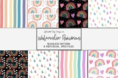 Watercolor rainbow seamless patterns Product Image 1