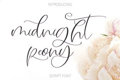 Midnight Peony Script Font Product Image 1