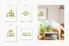 Avocados Quotes, Avocado Rainbow lettering, EPS, PNG Product Image 5