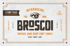 Broscoi - Vintage Font Family - Free font demo link included Product Image 1