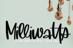 Milliwatts - A Fun Hand Lettered Script Font Product Image 1