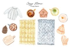Watercolor Cozy Home. Clipart Set Product Image 2
