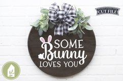 Farmhouse Easter Sign SVG, Some Bunny Loves You SVG Product Image 1