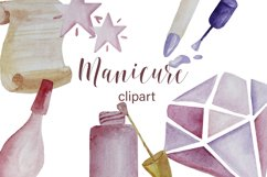 Manicure watercolor digital clipart Product Image 1