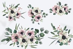Watercolor Anemones Bouquets Product Image 2