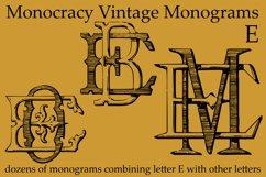 Monocracy Vintage Monograms E Product Image 2