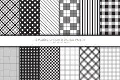 Plaid Digital Paper, Buffalo Plaid Scrapbook paper, check Product Image 1