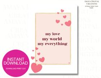 My love world everything Card E card,Card Instant Download Product Image 4