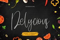 Delycious Script Restaurant Typeface Product Image 1