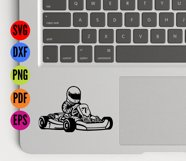 Go Karting SVG Cutting File  Product Image 4