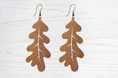 Leaf earrings, earrings svg bundle, earring template leather Product Image 5