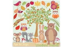 Woodland Animals Clipart Product Image 1
