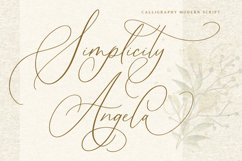 Simplicity Angela - Calligraphy Font Product Image 1